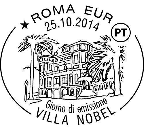 1000001624 francobollo Villa Nobel Sanremo.