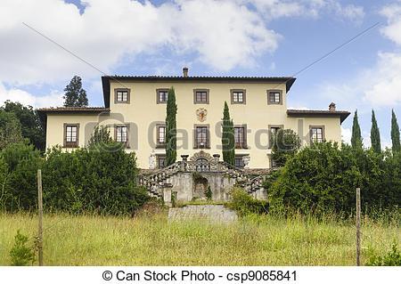 Stock Photography of Old villa near Castelfiorentino (Tuscany.