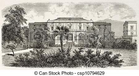 Clip Art of Villa Favorita.