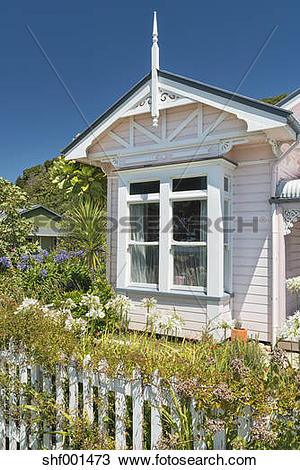 Stock Photo of New Zealand, Golden Bay, Collingwood, old colonial.