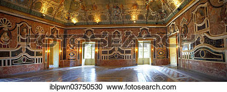 "Stock Photography of ""Ballroom of Mirrors of the baroque Villa."
