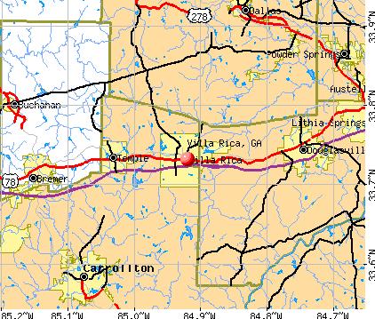 Villa Rica, Georgia (GA 30180) profile: population, maps, real.