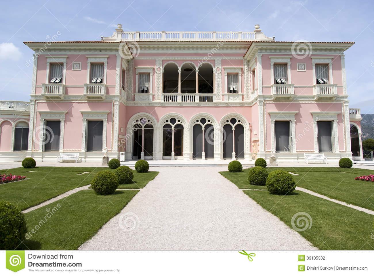 Garden In Villa Ephrussi De Rothschild, Saint.