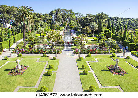Stock Photo of Villa Ephrussi de Rothschild, Saint.