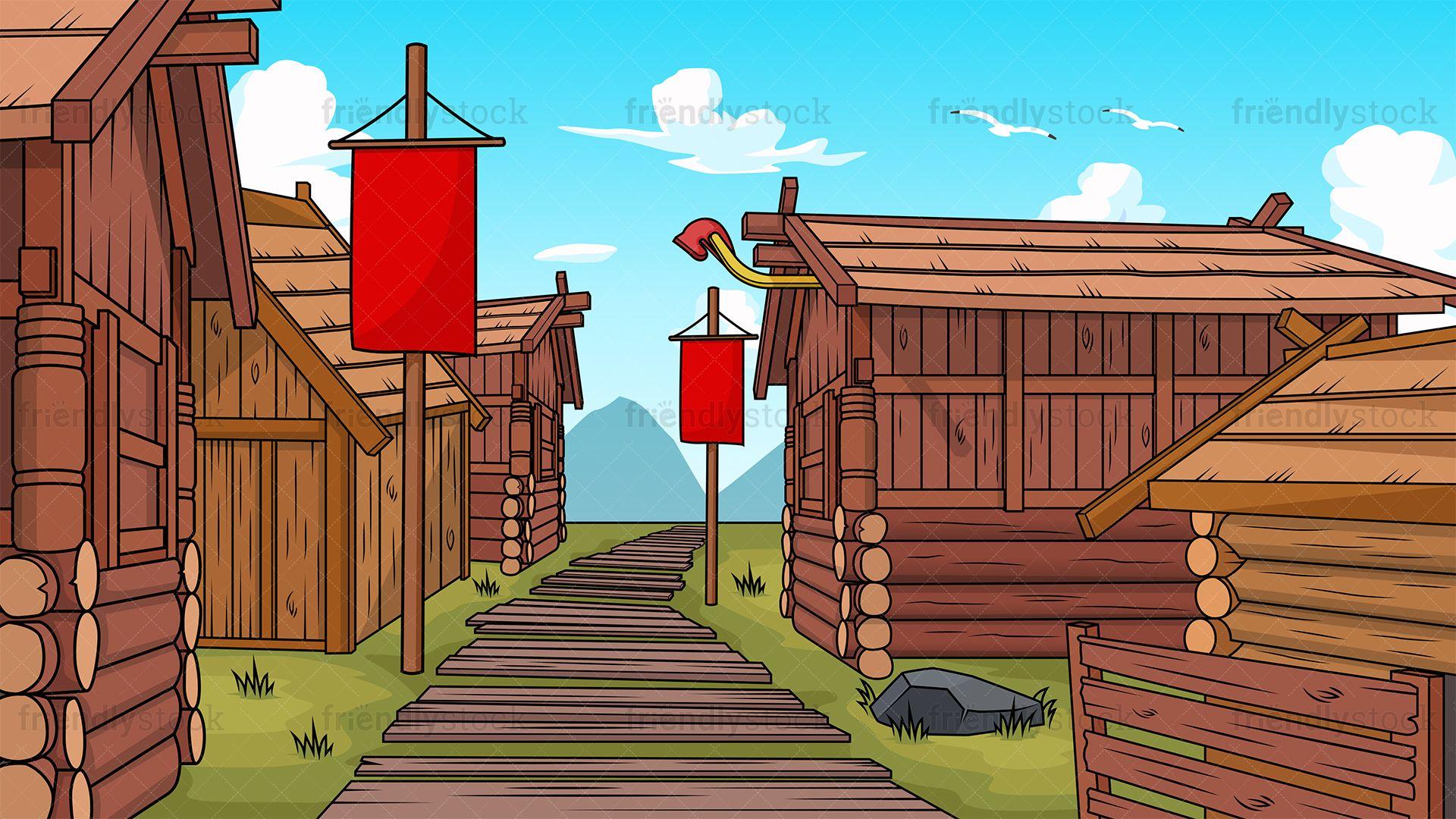 Viking Village Background.