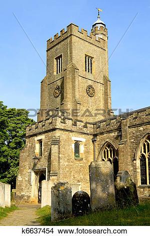 Stock Photo of Typical English village church k6637454.