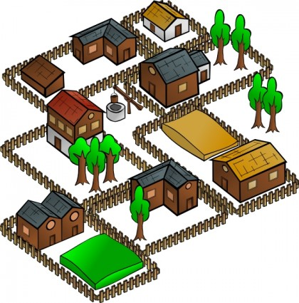 Village Clipart.