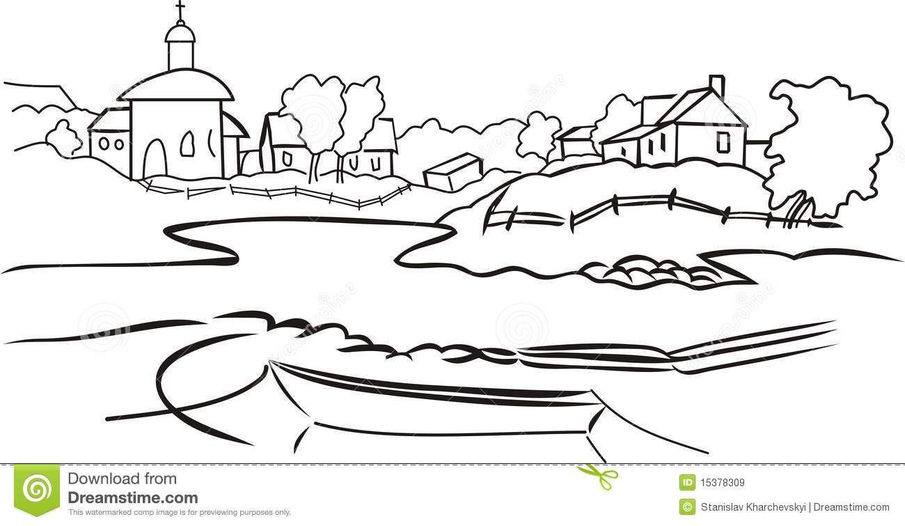 Village clipart black and white 7 » Clipart Station.
