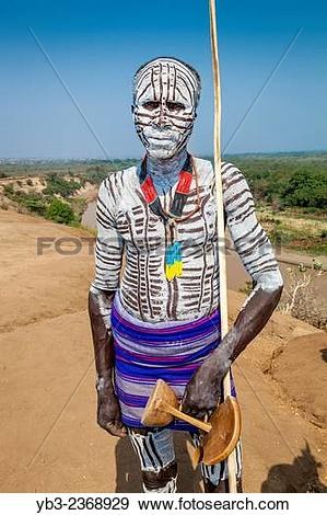 """Stock Photograph of """"A Portrait Of A Village Elder From The Karo."""