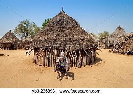 "Stock Photography of ""A Village Elder Outside His House, Kolcho."