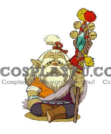 Custom Village Elder Cosplay Costume from Monster Hunter Stories.