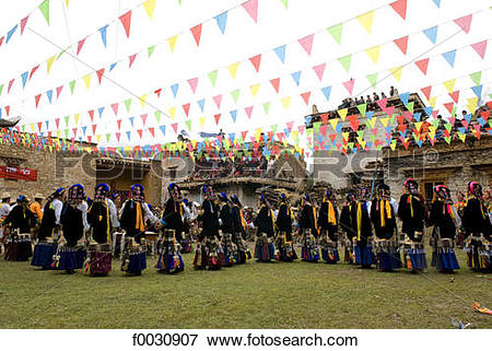 Picture of China, Sichuan, near Danba, Tibetan village festival.