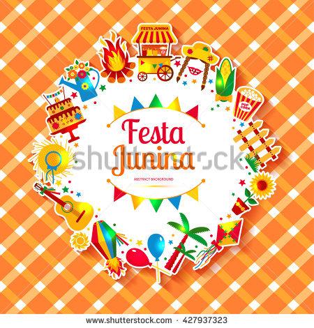 Festa Junina Village Festival Latin America Stock Vector 431655505.