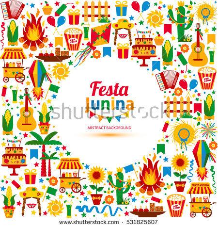 Festa Junina Village Festival Latin America Stock Vector 427909720.