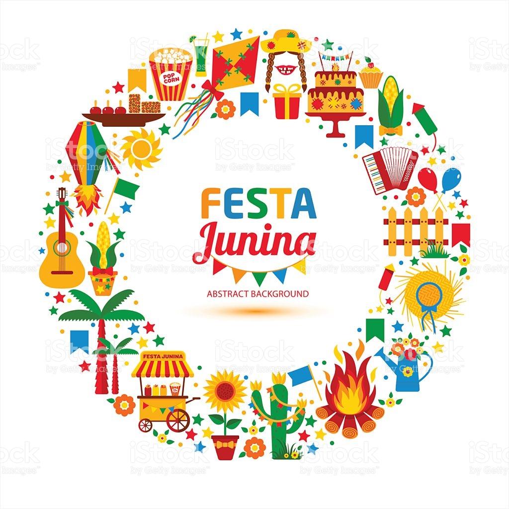Festa Junina Village Festival In Latin America stock vector art.
