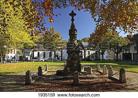 Stock Photograph of Monument In Village Green; Inistioge, County.