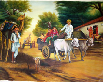Indian scenery clipart.