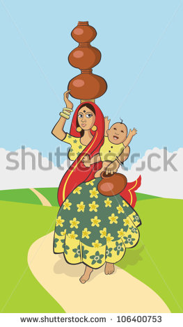 Indian Village Women Stock Images, Royalty.