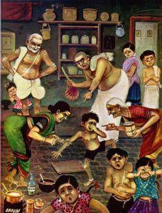 village life india girls washing.
