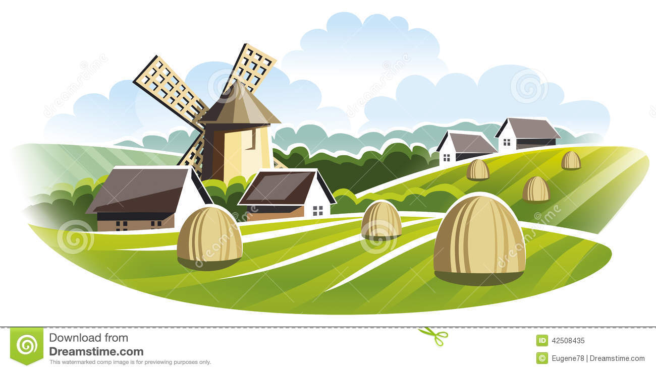 Agro based industries clipart.