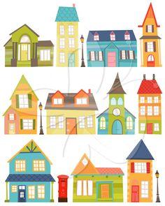 Winter Village Clip Art Clipart Winter Houses Clip Art Clipart.
