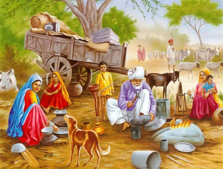 Village life clipart clipground for Examples of mural painting