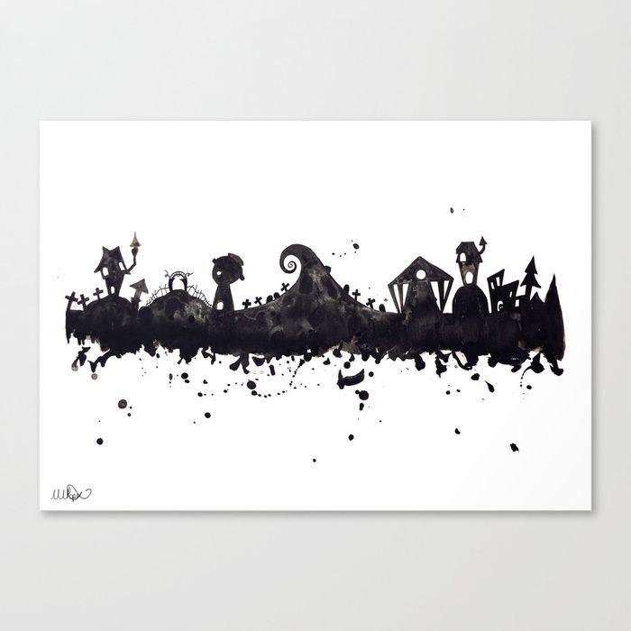 Halloween Town Nightmare Before Christmas Disney Tim Burton.