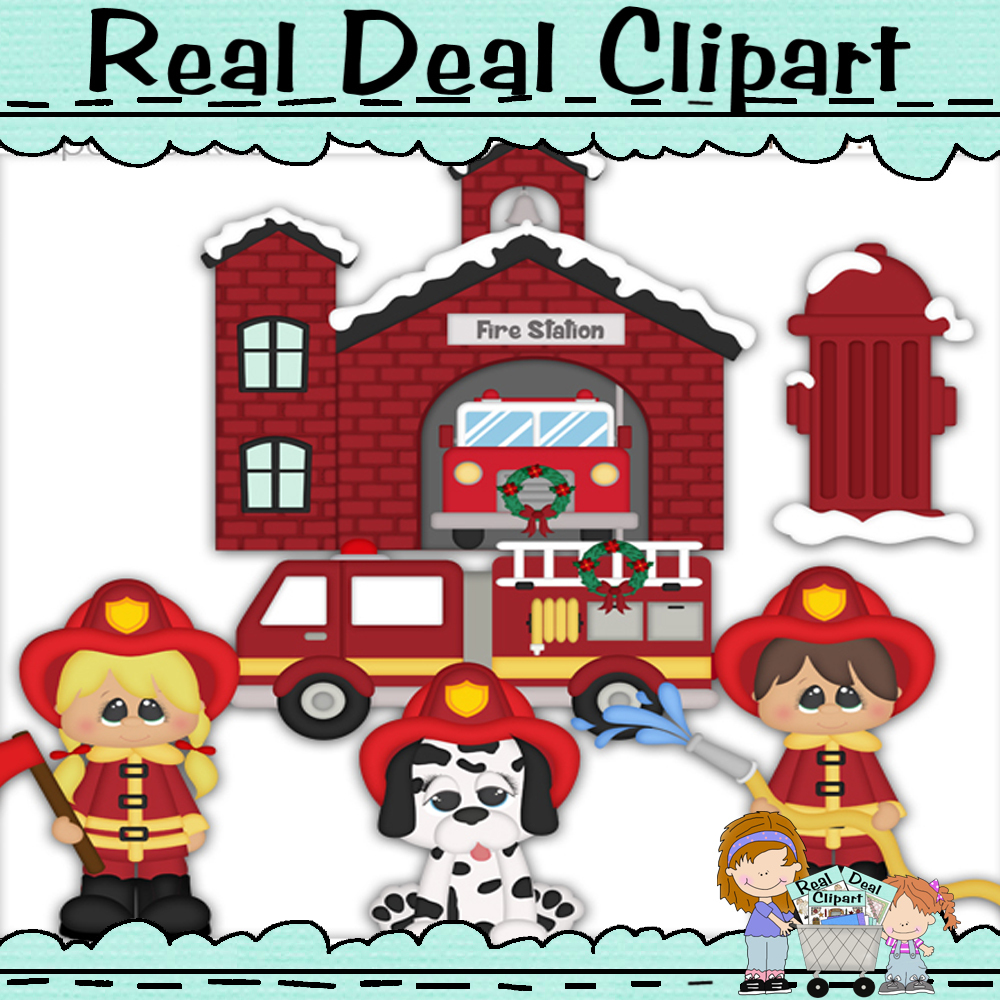 Winter Village Fire Department Clipart and 50 similar items.