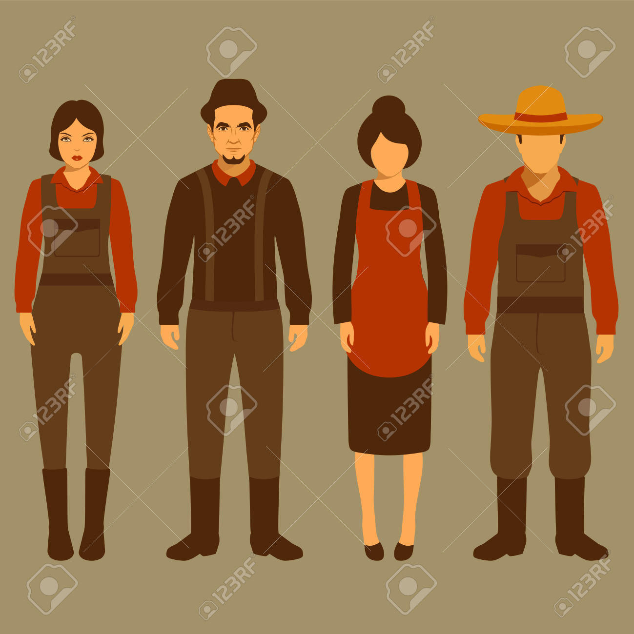2,507 Village Character Stock Vector Illustration And Royalty Free.