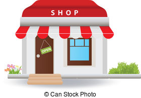 Vector Illustration of Shop front awning.