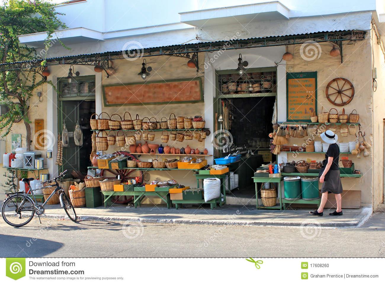 Village Store Clip Art.