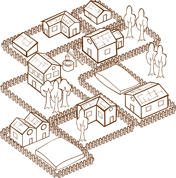 Villages clipart.