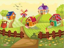 Village Stock Illustrations.