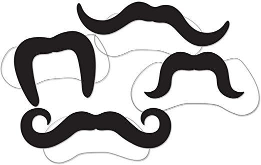 Printed Villain Moustaches (4/Pkg).