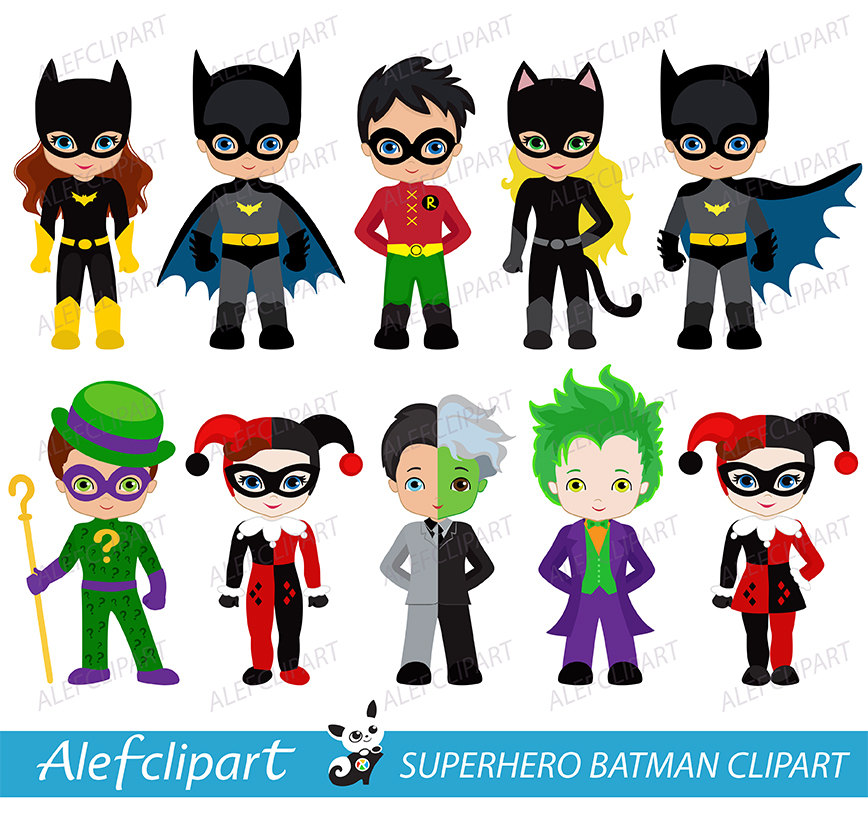 Super Villains Clipart.