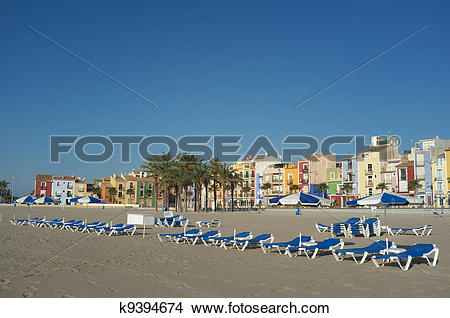 Stock Photo of Villajoyosa beach k9394674.