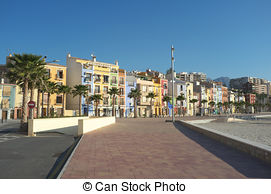 Stock Photo of Colorful houses in Villajoyosa La vila Joiosa.