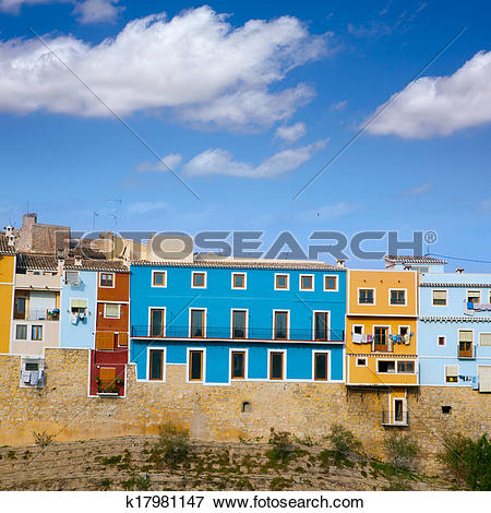 Picture of Colorful houses in Villajoyosa La vila Joiosa Alicante.
