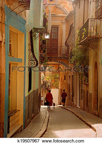Picture of Old Town at Villajoyosa k19507967.