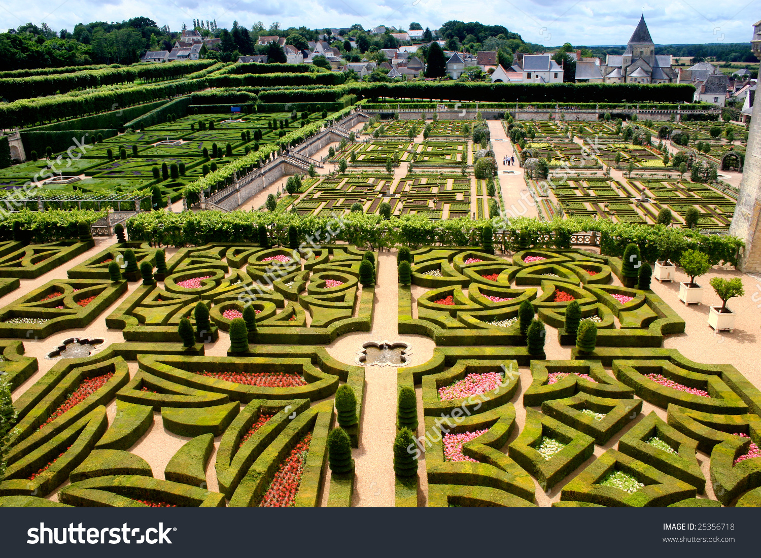 Villandry Castle Garden Stock Photo 25356718 : Shutterstock.