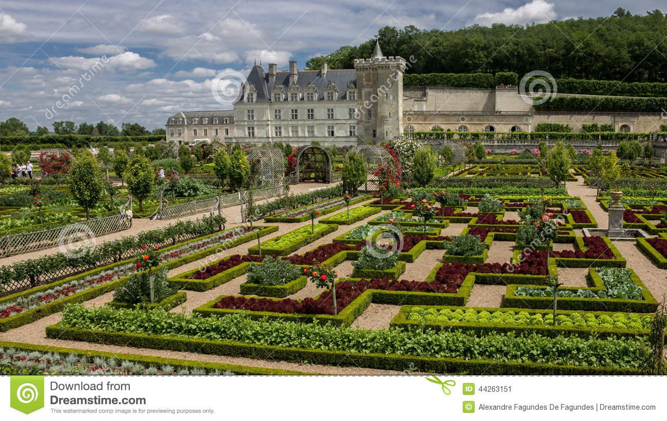 Chateau De Villandry Loire Valley France Stock Photo.