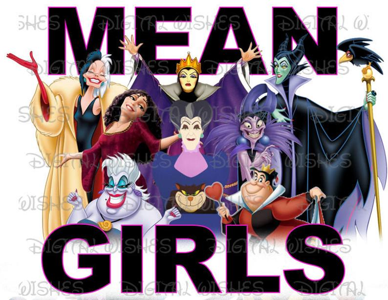 Mean Girls Disney Villains Digital Iron #796349.