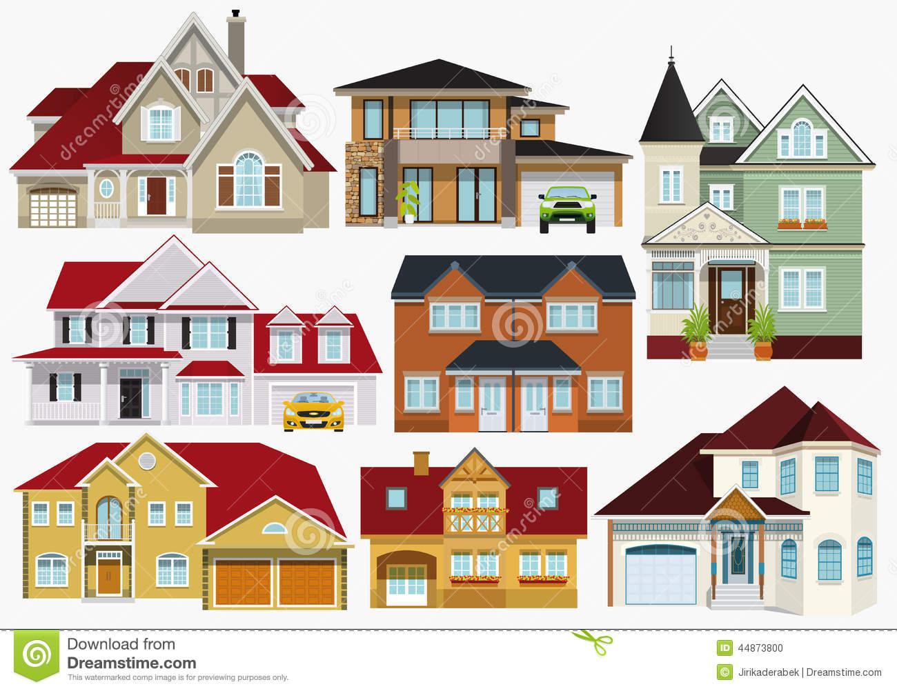 Villas Stock Illustrations.