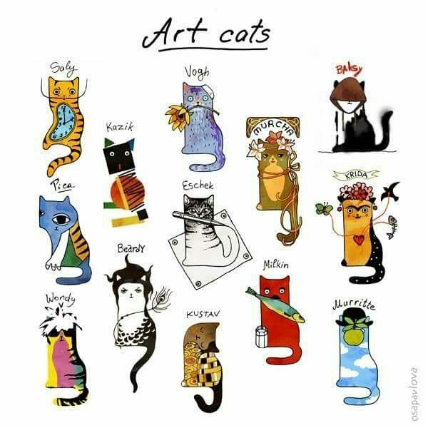 78 Best images about Cats illustrations on Pinterest.