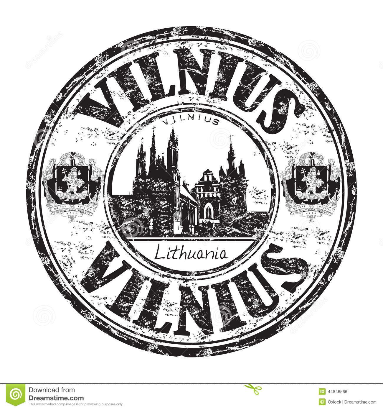 Vilnius Grunge Rubber Stamp Stock Vector.