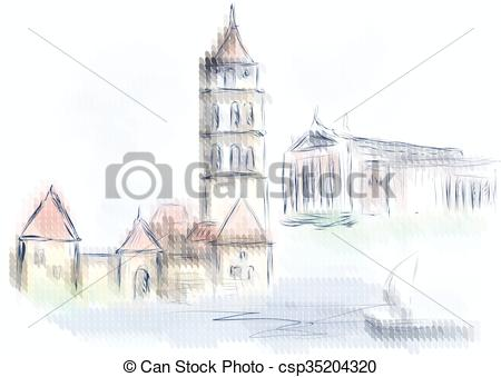 Vector Illustration of vilnius. abstract design of city on.