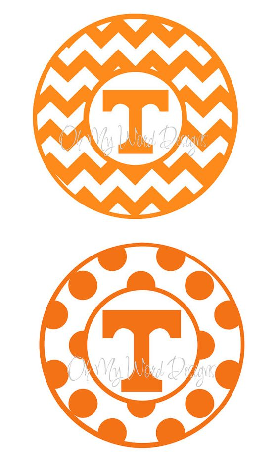Tennessee Vols Vinyl Car Decal by OhMyWordDesigns on Etsy, $9.00.