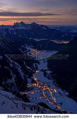 """Stock Photo of """"Heiterwanger Tal valley, Zwischentoren with the."""