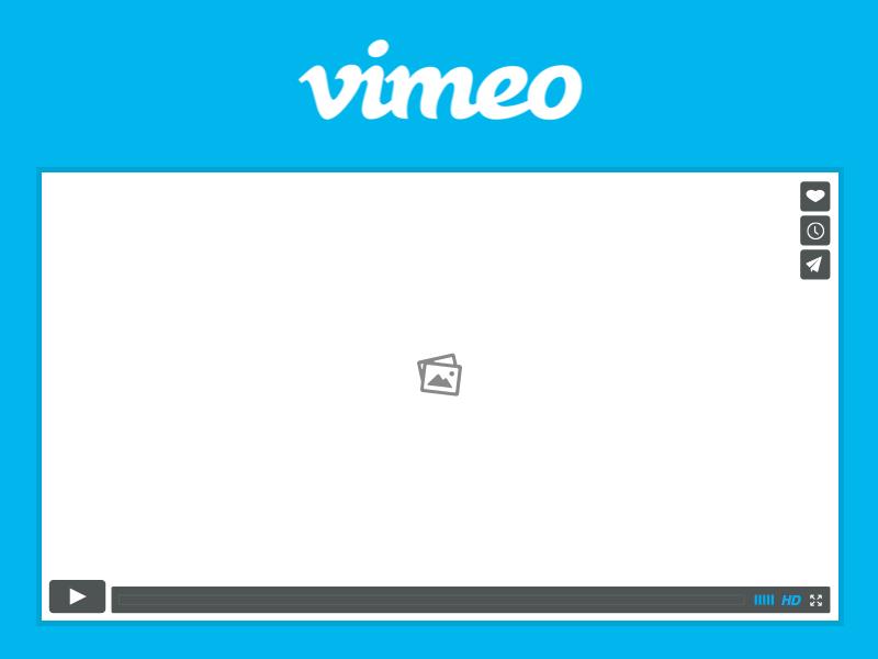 Vimeo Player Wireframe.