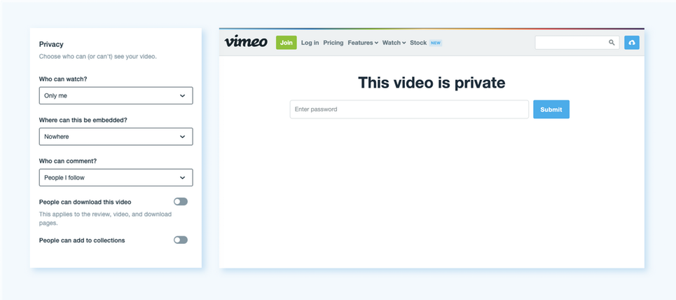 How to customize the Vimeo player.